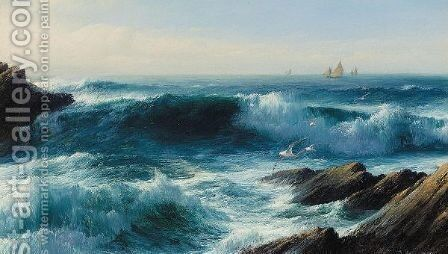Evening tide by David James - Reproduction Oil Painting