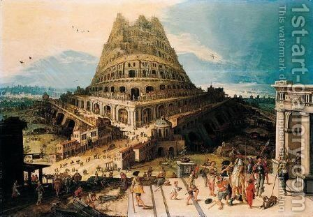 The tower of Babel by (after) Hendrick Van Cleve - Reproduction Oil Painting