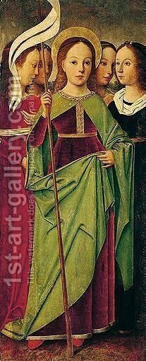 Saint Ursula and the virgins by Castilian School - Reproduction Oil Painting