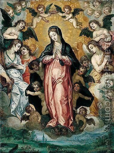 The immaculate concepcion by Hans I Rottenhammer - Reproduction Oil Painting