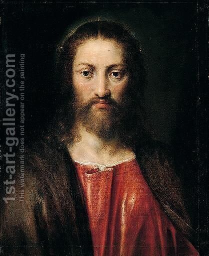 Study of Christ by (after) Tiziano Vecellio (Titian) - Reproduction Oil Painting