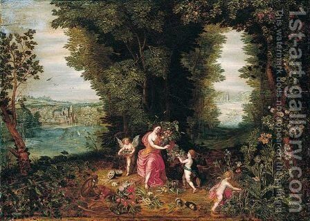 An allegory of earth by Jan, the Younger Brueghel - Reproduction Oil Painting