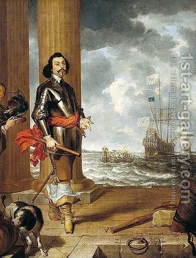 A portuguese commander by Gonzales Cocques - Reproduction Oil Painting