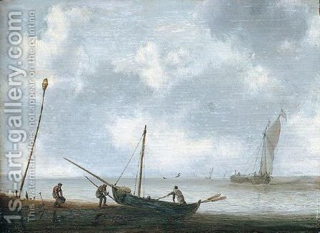 A coastal scene by Jan Porcellis - Reproduction Oil Painting