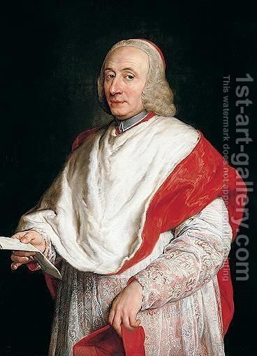 Portait of cardinal by (after) Pompeo Gerolamo Batoni - Reproduction Oil Painting