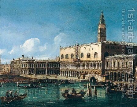 Grand canal by (after) (Giovanni Antonio Canal) Canaletto - Reproduction Oil Painting