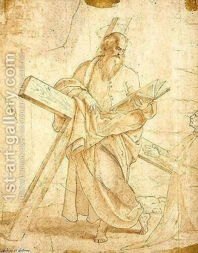 St. Andrew by Italian School - Reproduction Oil Painting