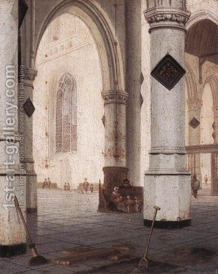 Church Interior by Hendrick Van Vliet - Reproduction Oil Painting