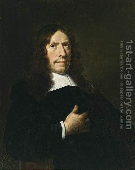 Portrait of a Cleric 1669 by Hendrick Van Vliet - Reproduction Oil Painting