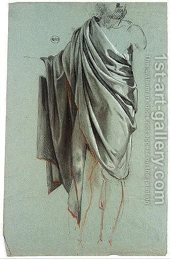 Studies of draped male figure by (after) Mathieu Ignace Van Br - Reproduction Oil Painting