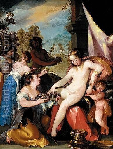 Homage To Ceres by (after) Hans Von Aachen - Reproduction Oil Painting