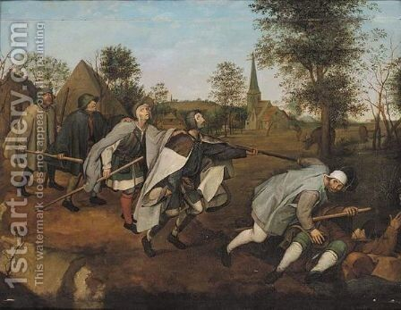 The Blind Leading The Blind by (after) Pieter The Elder Brueghel - Reproduction Oil Painting