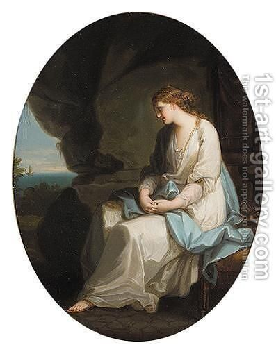 Ariadne Deserted On Naxos by (after) Kauffmann, Angelica - Reproduction Oil Painting