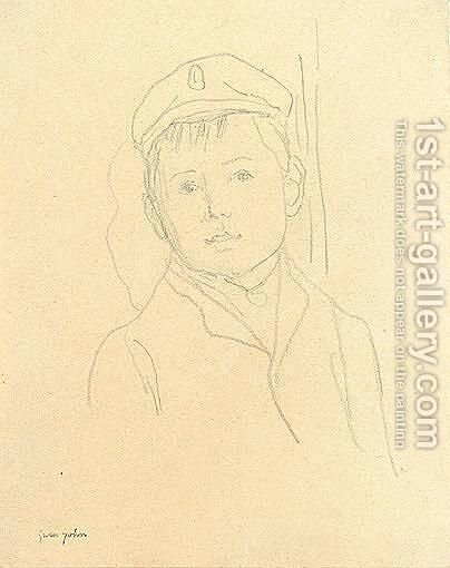 Boy Wearing A Cap by Gwen John - Reproduction Oil Painting