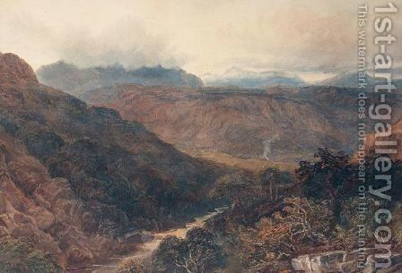 Clouds Gathering In The Mountains by David Y. Cox - Reproduction Oil Painting