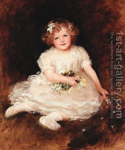 Portrait Of Vera Florence Rowe by Georges Sheridan Knowles - Reproduction Oil Painting