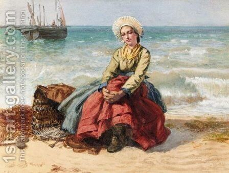Breton Fisher Girl by Edward Killingworth Johnson - Reproduction Oil Painting