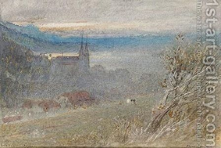 Lucerne, Dawn by Albert Goodwin - Reproduction Oil Painting