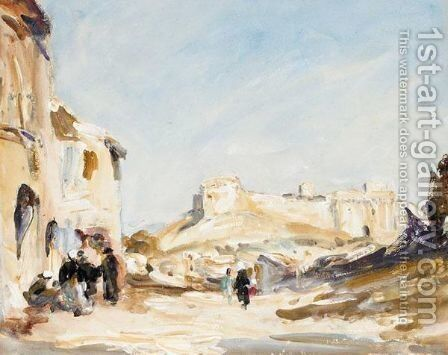 Town Landscape by (after) Hercules Brabazon Brabazon - Reproduction Oil Painting
