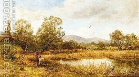 A Pool Near Malvern by David Bates - Reproduction Oil Painting
