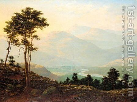 The River Dee, Lochnagar In The Distance by J.T. Walton - Reproduction Oil Painting