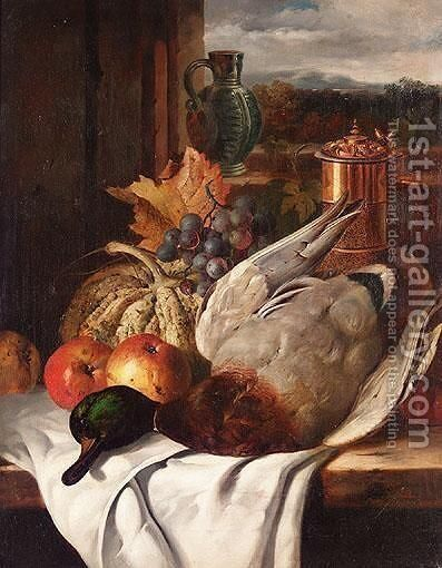 Mallard Still Life by Edward Ladell - Reproduction Oil Painting
