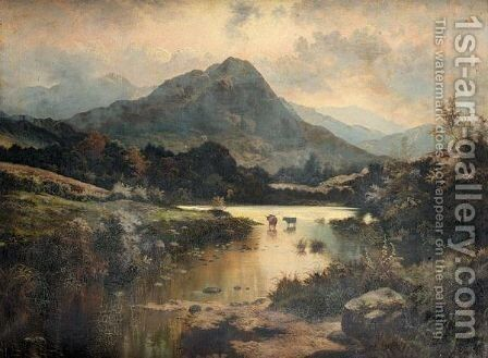 Evening In The Highlands by Henry Livings - Reproduction Oil Painting