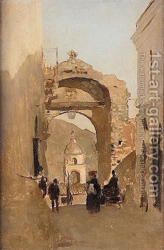 Mediterranean Archway by James Kerr-Lawson - Reproduction Oil Painting