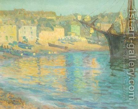 Sunlit Harbour by (after) Elizabeth M. Wilde - Reproduction Oil Painting