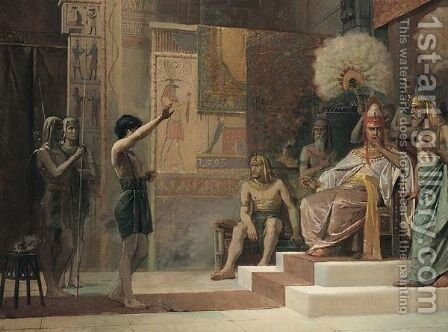 An Audience With The Pharoah by Continental School - Reproduction Oil Painting