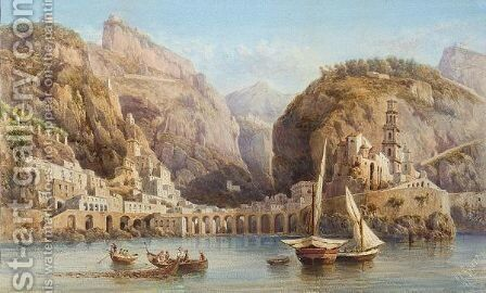 The Sorento Coast by Giovanni Lanza - Reproduction Oil Painting