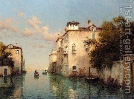 A Venetian Canal by Antoine Bouvard - Reproduction Oil Painting