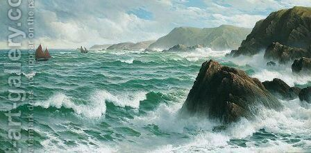 A North Easter, Coast Of Devon by David James - Reproduction Oil Painting