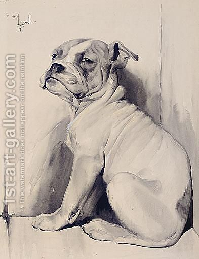 A Boxer Pup by Cecil Charles Aldin - Reproduction Oil Painting