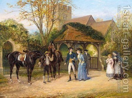 The Sunday Ride by Heywood Hardy - Reproduction Oil Painting