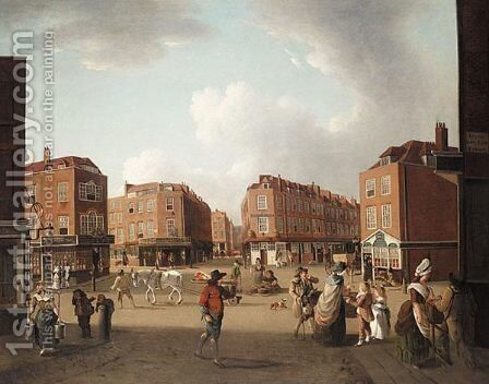 Seven Dials, Covent Garden by (after) Hodges, William - Reproduction Oil Painting