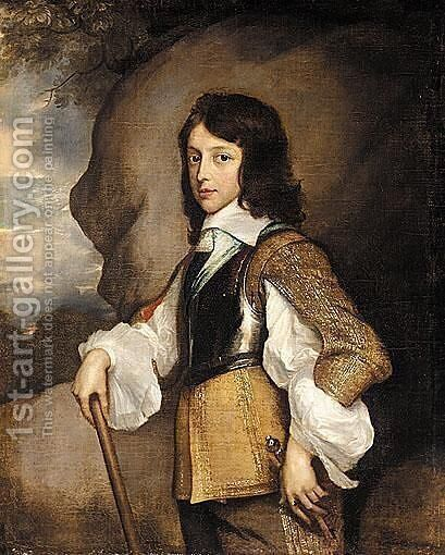 Portrait Of Henry Stuart, Duke Of Gloucester (1640-1660), When A Boy by (after) Adriaen Hanneman - Reproduction Oil Painting
