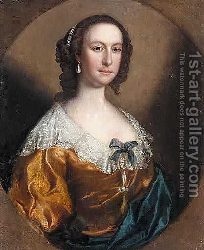 Portrait Of Anne Jennens by (after) Christopher Steele - Reproduction Oil Painting