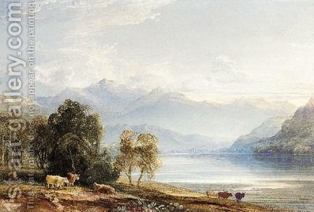 Loch Tay, Perthshire by Anthony Vandyke Copley Fielding - Reproduction Oil Painting