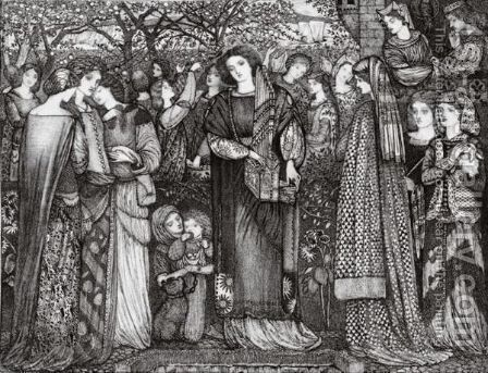 Kings' Daughters by Sir Edward Coley Burne-Jones - Reproduction Oil Painting