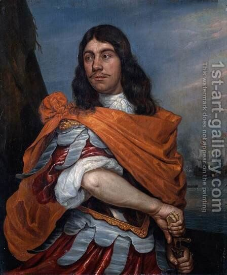 Cornelis Tromp in Roman Costume 1673 by Abraham Willaerts - Reproduction Oil Painting