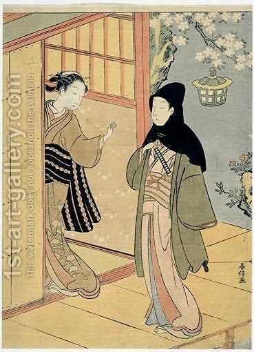 L'Attente by Suzuki Harunobu - Reproduction Oil Painting
