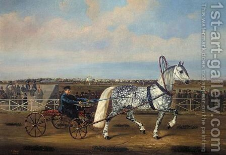 At The Races by Alexander Johann Gottlieb Petrovich Schwabe - Reproduction Oil Painting