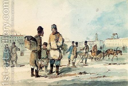 St. Petersburg Itinerants by Carl Ivanovitch Kollmann - Reproduction Oil Painting