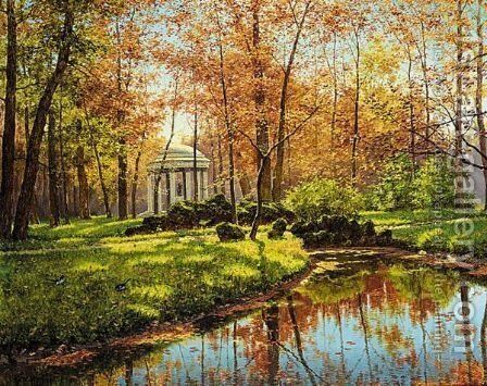 The Queen's Temple At Versailles by Boris Bessonov - Reproduction Oil Painting