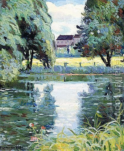 House Across The River by Alexander Altmann - Reproduction Oil Painting
