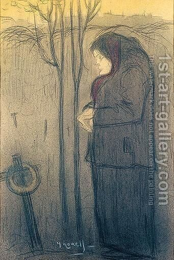 Mujer Rezando (Woman Praying) by Isidro Nonell - Reproduction Oil Painting