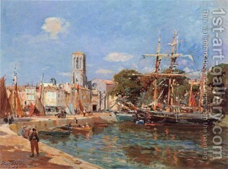 Port De Mer by Edmond Marie Petitjean - Reproduction Oil Painting