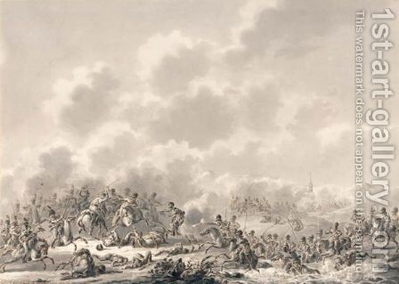 Battle Scene by Dirck Langendijk - Reproduction Oil Painting