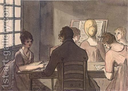A Drawing Class by Christiaan Andriessen - Reproduction Oil Painting